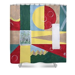 Calm And Chaos Shower Curtain