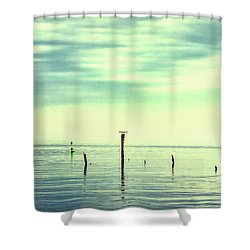 Shower Curtain featuring the photograph Calm Bayshore Morning N0 1 by Gary Slawsky
