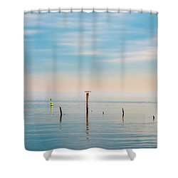 Shower Curtain featuring the photograph Calm Bayshore Morning N0 3 by Gary Slawsky