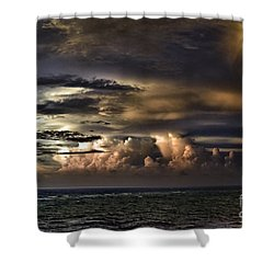Calm Before Storm Shower Curtain by Judy Wolinsky