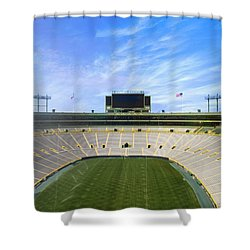Shower Curtain featuring the photograph Calm Before The Game by Joel Witmeyer