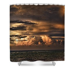 Calm Before The Storm Shower Curtain by Judy Wolinsky