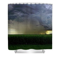 Calm Before The Storm Shower Curtain by Sue Stefanowicz