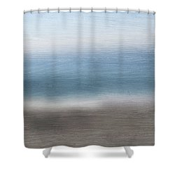 Calm Coast 2-  Art By Linda Woods Shower Curtain