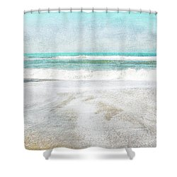 Calm Coast- Art By Linda Woods Shower Curtain