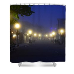 Calm In The Streets Shower Curtain