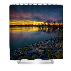 Shower Curtain featuring the photograph Calm by John De Bord