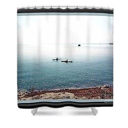 Calm Lake Superior Shower Curtain