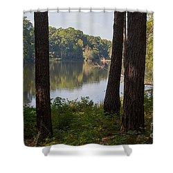 Calm Lake Waters Shower Curtain by Kevin McCarthy