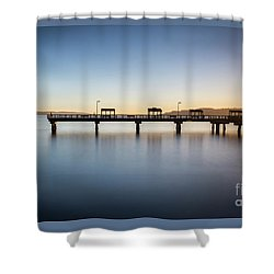 Calm Morning At The Pier Shower Curtain