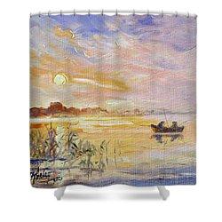 Calm Morning Shower Curtain by Irek Szelag