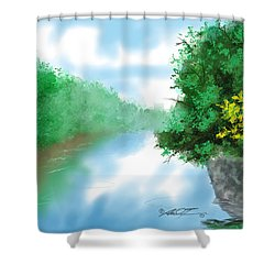 Calm River Shower Curtain