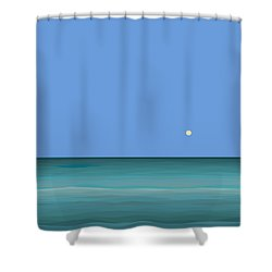 Shower Curtain featuring the digital art Calm Sea - Square by Val Arie