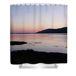 Calm Sunset Loch Scridain Shower Curtain