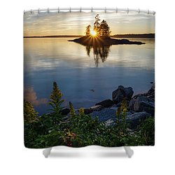 Calm Water At Sunset, Harpswell, Maine -99056-99058 Shower Curtain