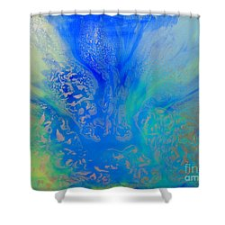 Calm Waters Abstract Shower Curtain
