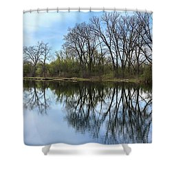 Calm Waters At Wayne Woods Shower Curtain