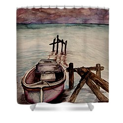 Calm Waters Shower Curtain by Lil Taylor