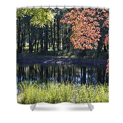 Calm Waters Shower Curtain by Ricky Dean
