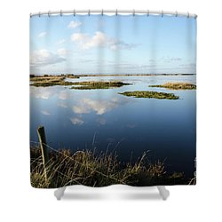 Calm Wetland Shower Curtain by Kennerth and Birgitta Kullman