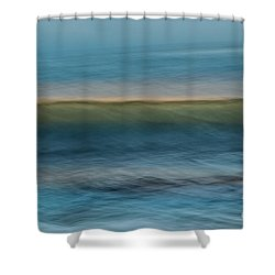 Calming Blue Shower Curtain