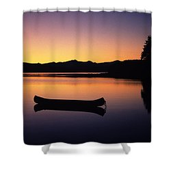 Calming Canoe Shower Curtain by John Hyde - Printscapes