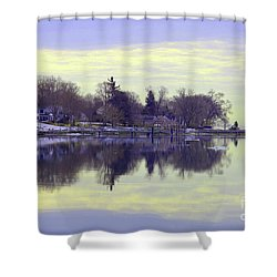 Calming Lavendar Scene Shower Curtain by Karol Livote