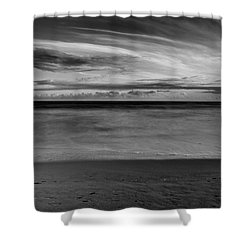 Shower Curtain featuring the photograph Calming Seas by Linda Lees