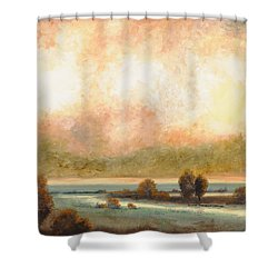Calor Bianco Shower Curtain by Guido Borelli