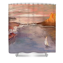 Calpe At Sunset Shower Curtain