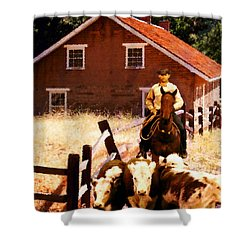 Shower Curtain featuring the photograph Calves by Timothy Bulone