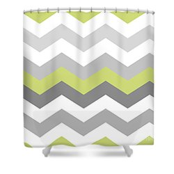 Calyx Chevron Pattern Shower Curtain by Mindy Sommers