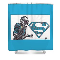 Cam Newton Superman Edition Shower Curtain by Jeremiah Colley