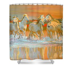 Camargue  Shower Curtain by William Ireland