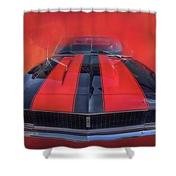 Camaro - Forged By Fire Shower Curtain by Theresa Tahara