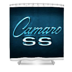 Shower Curtain featuring the photograph Camaro S S Emblem by Mike McGlothlen
