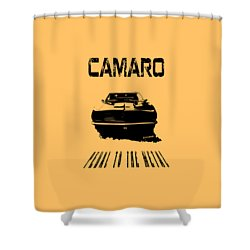 Shower Curtain featuring the photograph Camaro Ss - Pedal To The Metal by Kim Gauge