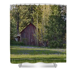Camas And Barn Shower Curtain