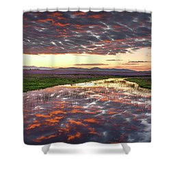 Shower Curtain featuring the photograph Camas Spring Sunrise by Leland D Howard