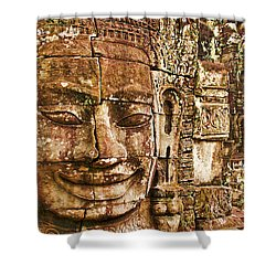 Cambodia Faces  Shower Curtain by Dennis Cox WorldViews