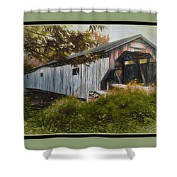 Cambridge Jct. Bridge Shower Curtain by John Selmer Sr
