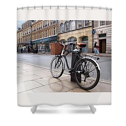 Shower Curtain featuring the photograph The Wheels Of Justice - Cambridge Magistrates Court by Gill Billington