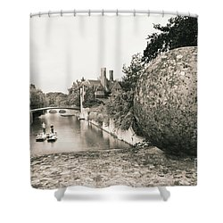 Cambridge Punting  Shower Curtain
