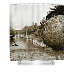 Cambridge Punting Sepia Shower Curtain