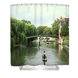 Cambridge River Punting Shower Curtain