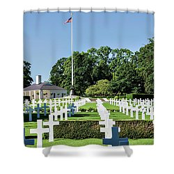 Cambridge England American Cemetery Shower Curtain by Alan Toepfer