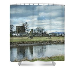Cambuskenneth Abbey And The River Forth Shower Curtain
