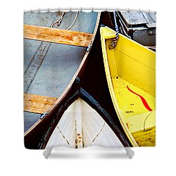 Shower Curtain featuring the photograph Camden Dories Photo by Peter J Sucy