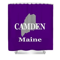 Shower Curtain featuring the photograph Camden Maine State City And Town Pride  by Keith Webber Jr