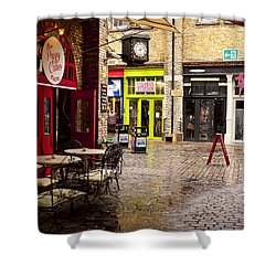 Camden Stables Market Shower Curtain by Rae Tucker